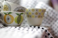 Beautiful cups. Vintage Arabia of Finland.
