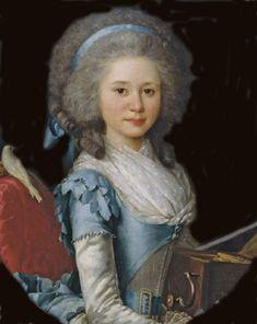 Miniature portrait of Marie Émilie de Serent by Antoine Vestier (1788)