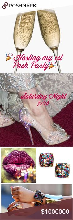 Co-Hosting my 1st Posh Party Saturday Evening 7/16 SAVE-THE-DATE Saturday night 7/15So excited to be co-hosting! The theme has not been announced yet but I'm feverishly searching for HOST PiCKS- please help!! If your closet follows Posh rules suggest items in your closet or from your posh closet crush. I would love to look at any suggestions! Thank you❤️❤️❤️❤️ and hope to see you at the party!! Barbara Other