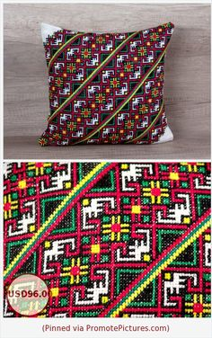 Geometrical cross stitch needlepoint pillow case, boho style retro European pillows, standard sham 14 x 14 inch ( 36 * 36 ) ~ gift for woman https://www.etsy.com/listing/271707530/geometrical-cross-stitch-needlepoint?ref=shop_home_active_4  (Pinned using https://PromotePictures.com)