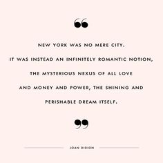 The shining and perishable dream itself #newyork #joandidion
