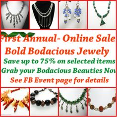 Bold Bodacious Jewelry Online Trunk Show Save up to 75% on selected items thru 12-8 http://on.fb.me/IRyuAj