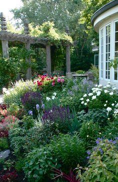 Beautiful perennial garden