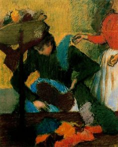 Edgar Degas, At the Milliners