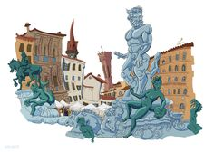 https://flic.kr/p/M3JKev | Neptune statue | Florence, Italy Carlos Castro…