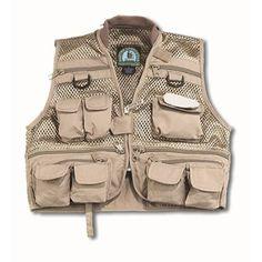 Master Sportsman Youth Mesh Fishing Vest (Khaki) Extra Large  Freshest Fishing Clothing And Gear On The Web!