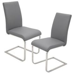 Contemporary Foster Stainless Steel Dining Chairs (Set of 2) | Overstock.com Shopping - The Best Deals on Dining Chairs
