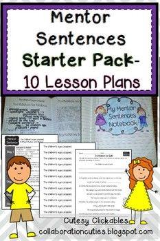 Best Mentor Sentences Images In   Teaching Grammar Writing  Mentor Sentences Starter Pack  Lesson Plans Assessments And More