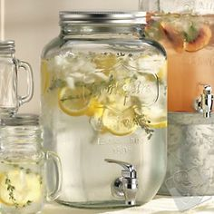 nice! these guys have it for less AND free shipping! Mason Jar Beverage Dispenser at Wine Enthusiast - $29.95