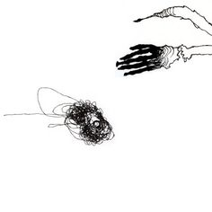 Hairball Limited Edition spooky hand and a wild by EndlessDrawings, $12.00