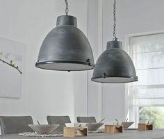 Woon hanglamp 2L industrie concrete dubbele kap