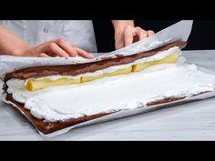 Troubu nepotřebujete! Naučte se, jak připravit tu nejlepší banánovou roládu se sušenk Cookrate-Czech - YouTube Biscuits Au Cacao, Romanian Desserts, Kakao, Four, Vanilla Cake, Cheesecake, Food And Drink, Tasty, Sweets