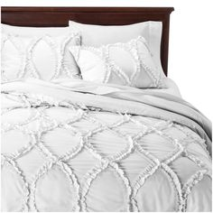 Avon comforter set comes with comforter and matching pillow shams featuring ruffle ribbon embroidery. (Ruffled square euro pillows and smaller decorative pillows in the picture are not included in this set). King Size Comforters, Queen Comforter Sets, Ruffle Comforter, Floral Comforter, Bedspread, Euro Pillows, Pillow Shams, Decorative Pillows, Houses