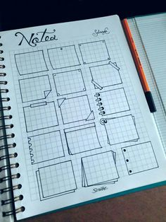 I just came across with the idea of starting my own bullet-doddled notebook-agen… – Filofax / Moleskine / planner / journal / binder / bullet journal + printables + stationery Bullet Journal Headers, Bullet Journal Banner, Bullet Journal 2019, Bullet Journal Notes, Bullet Journal Aesthetic, Bullet Journal Notebook, Bullet Journal School, Bullet Journal Ideas Pages, Bullet Journal Inspiration