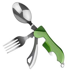 Designed to make your camping trips a better experience the Wetpia multi-tool will handle all your dining utensil worries from here on out. With a split design you'll have access to both the fork an...