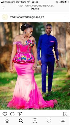 African Traditional Wedding Dress, Traditional Dresses, African Wedding Attire, Weeding, Pedi, African Fashion, Wedding Gowns, Marriage, Formal Dresses