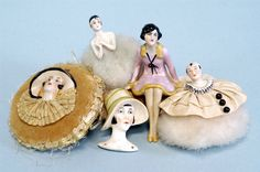 GROUPING OF 1920'S PORCELAIN Powder FIGURALS Germany