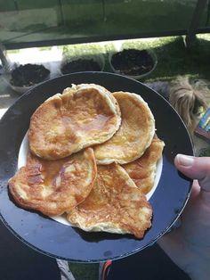 Egg and cream cheese pancakes
