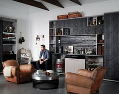 Man Cave - contemporary - garage and shed - new york - California Closets