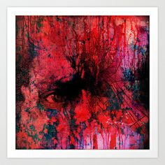 Nightmarish night Art Print by Ganech joe - $15.60