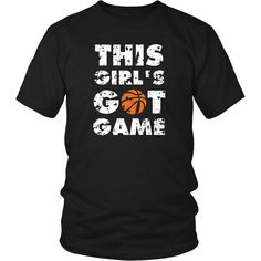 Show how proud Basketball NBA fan you are wearing This girl's got game Tee. Check more Basketball t-shirts & hoodies. If you want different color, style or have an idea for design please contact us! Rockets Basketball, Basketball Shorts Girls, Basketball Games For Kids, Basketball Tricks, Basketball Workouts, Best Basketball Shoes, Basketball Quotes, Basketball Uniforms, Basketball Hoop