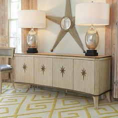 The #globalviews Artisan Media Cabinet is solid hand carved wood ...