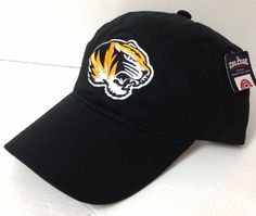 the latest 89c72 97292 New MISSOURI TIGERS HAT Men Women Relaxed-Fit Dad-Cap Snapback OSFM