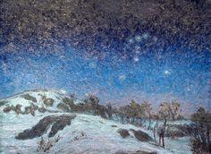 Karl Nordström  Vinternatt (Klar afton pе senvinteren) /(Winter night)