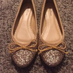 Gold sparkle shoes Gold sparkle shoes. Only wore once. Paprika Shoes Flats & Loafers