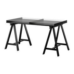"""I'm thinking this could be hacked into a coffee table, where laptops could charge under the glass and things could be put away easily.  Ideally on casters and with raise/lower height for eating at the couch or lowered for more """"normal"""" coffee table look. VIKA GRUVAN/VIKA LILLEBY Table IKEA"""