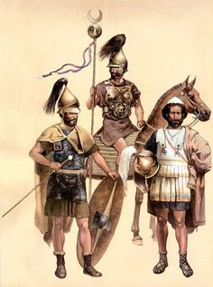 Carthaginian officers during the Punic Wars. The officer class was comprised of aristocratic men from the noble strata of society. It was only during the conclusion of the first Punic War that men of more humble origins came to the fore. Unfortunately it was too late and Carthage was defeated.