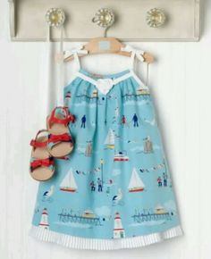 NWT Janie Jack Yacht Party Boat Dress 3T,Lighthouse,Boardwalk,Nautical,CUTE…