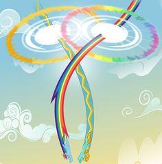Rainbow Dash vs Lightning Dust by ~Godoffury on deviantART