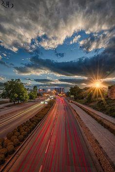 Skopjecity, Macedonia. Sunset view.