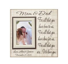 Parents Wedding Gift-Parents Thank You gift Wedding, Gift for ...