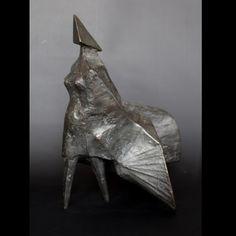 Maquette II Walking Woman a patinated bronze figure by Lynn Chadwick A study of a woman walking, dress billowing in the wind. Lynn Chadwick, Contemporary Sculpture, Lion Sculpture, Walking, Bronze, Statue, Woman, Art, Art Background
