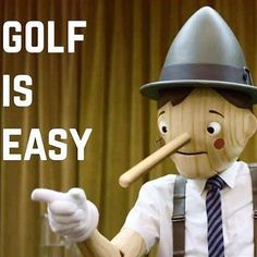 Golf is easy. I average about 380 off the tee. I had a 4 on that hole.  What's another #GolfLie you've heard? I Rock Bottom Golf #rockbottomgolf