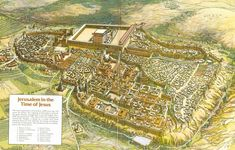 Jerusalem was capital of Israel, its history reaching 4000 BC. Jerusalem is city of Kind David and Solomon with his beautiful Temple. Jerusalem is Holy city of Judaism, Christianity and Islam. Israel Tours, Solomons Temple, Bible Mapping, Medieval, Ancient Mysteries, Holy Land, Ancient Rome, Ancient Civilizations, Aerial View