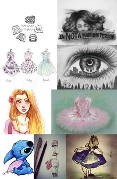 Cool drawings. I love the I'm not a morning person one!