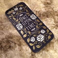 Tanamachi iPhone 5s case Once upon a time navy phone case with gold and white design. Hard case. Easy to put on and take off. No damage. In great shape. Tanamachi Accessories Phone Cases