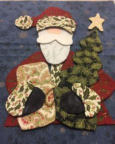 #appliqué #santa #myday #fun #quilting #workinprogress