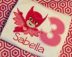 PJ Masks Owlette Birthday Shirt