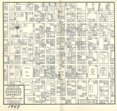Kansas City Map Kansas and Missouri 1907 Geometry Pinterest