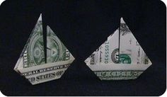 boat - dollar bill origami boat instructions - Google Search - sale away on your next adventure