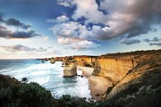 Yes...the 12 Apostles looking West . These limestone stacks rise from the ocean in the Port Campbell National Park along the Great Ocean Road by longshotimages
