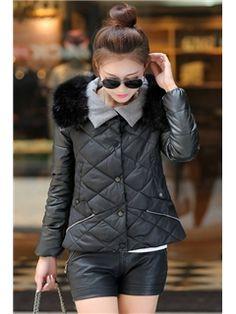 Warm Padded Fashion Fur Collar Coats