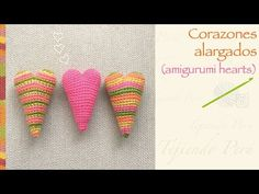 Corazón alargado amigurumi crochet / English subtitles: amigurumi elongated heart! - YouTube