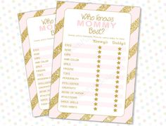 Who knows Mommy best Pink Gold INSTANT by PeachPuffDesigns on Etsy