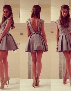 Beauty Graduation Dress,Short Graduation Dress,Beading Graduation Dress,Backless…