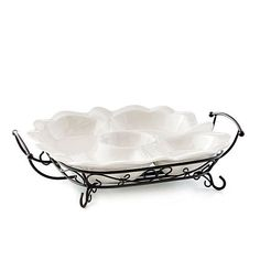 "This Celebrating Home ""Veranda Home Divided Tray Stoneware & metal"" (17 x 12 3/4 x 4"") can be yours for just $19.75!!! E-mail me for more information at rosalynbryan@yahoo.com or go to www.celebratinghome.com/sites/rosalynsline"